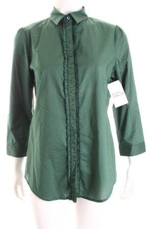 Burberry Rüschen-Bluse waldgrün Casual-Look