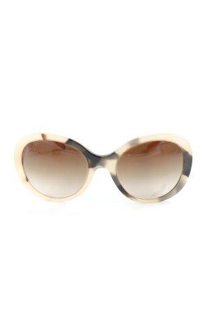 Burberry runde Sonnenbrille nude-dunkelbraun Tortoisemuster Brit-Look