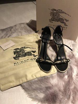 Burberry Sandale Gr. 41 beige / schwarz