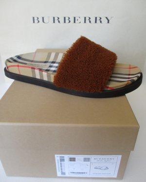 Burberry London Sandalias cómodas marrón arena-marrón claro tejido mezclado