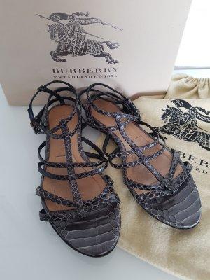 Burberry Sandalo con cinturino grigio scuro-grigio ardesia