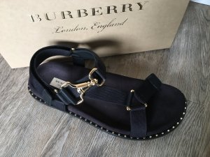 Burberry Strapped Sandals black-gold-colored