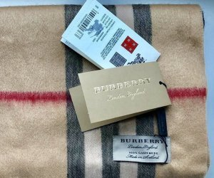 Burberry Sjaal van kasjmier veelkleurig