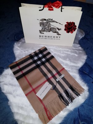 Burberry London Knitted Scarf light brown