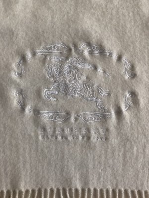 Burberry Woolen Scarf natural white wool