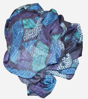 BURBERRY SCHAL blau Modal Kaschmir
