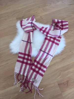 Burberry Bufanda de cachemir rojo-rosa