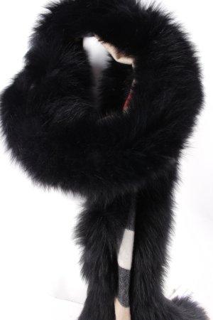 """Burberry Schal """"Fur Trim Cashmere Scarf Camel Check"""""""