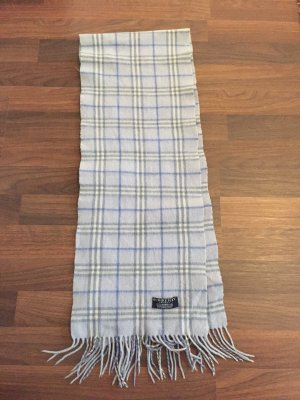 Burberry Woolen Scarf azure-natural white new wool