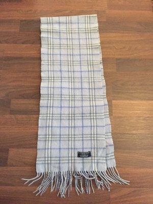 Burberry Bufanda de lana azul celeste-blanco puro lana de esquila