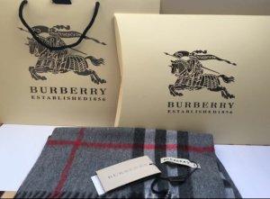 Burberry Bufanda de cachemir gris