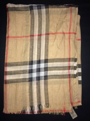 Burberry Fringed Scarf brown