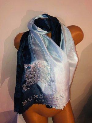 Burberry Schal Tuch leichte Stoff Farbverlauf Blau