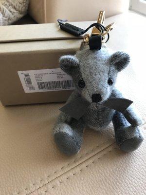 Burberry Porte-clés gris-argenté cachemire