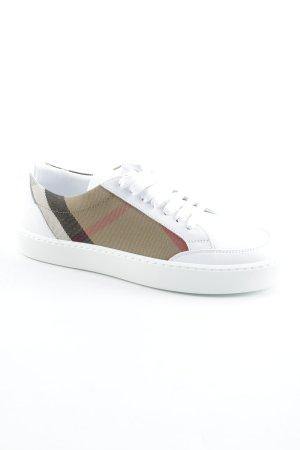 "Burberry Schnürsneaker ""Salmond Sneaker House Check Optic White"""
