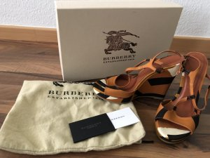 Burberry Platform Sandals multicolored leather