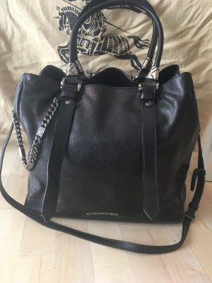 Burberry Schwarze Leder Tote Bag Large