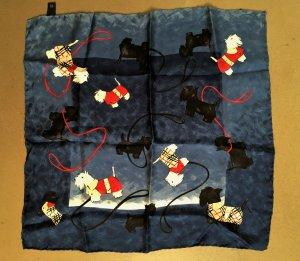 Burberry Silk Cloth dark blue-dark red silk