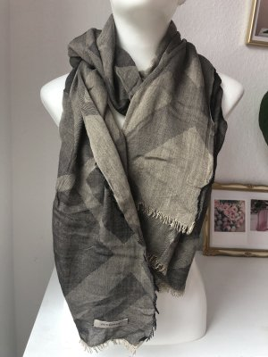 Burberry Silk Scarf grey brown-beige