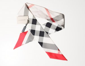 Burberry Silk Scarf multicolored silk