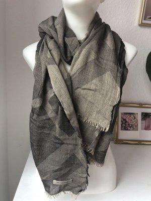 Burberry Zijden sjaal grijs-bruin-beige