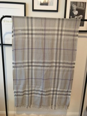 BURBERRY SEIDENSCHAL GIANT CHECK GRAU