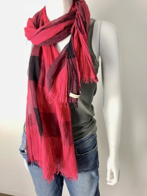 Burberry Silk Scarf black-magenta