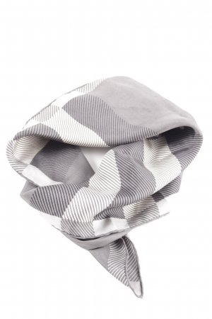 Burberry Silk Cloth light grey-white check pattern business style