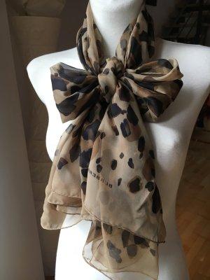 Burberry Seidentuch leoprint Schal aus Seide braun beige