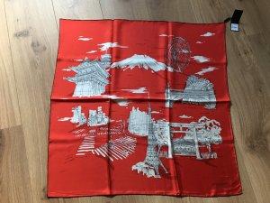 Burberry Foulard en soie rouge