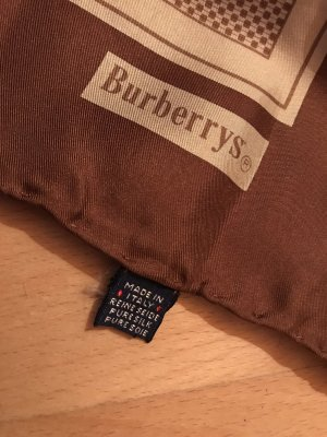 Burberry Fazzoletto da collo crema-marrone