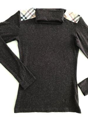 BURBERRY Shirt Longsleeve Rollkragen Braun Größe S