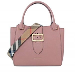 Burberry Soft Grain Medium Buckle Tote- Dusty Pink 4029021 1695€ NEU mit Etikett