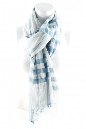 Burberry Summer Scarf azure-sage green Vichy check pattern street-fashion look