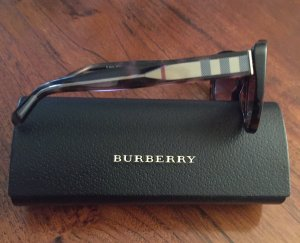 Burberry Occhiale da sole ovale marrone