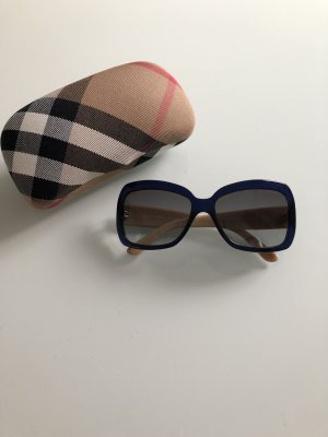 Burberry Angular Shaped Sunglasses dark blue-oatmeal