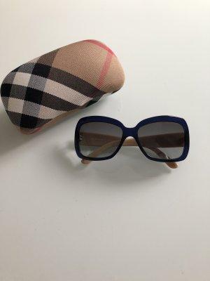 Burberry Gafas de sol cuadradas azul oscuro-beige claro