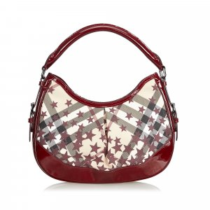 Burberry Sac hobo bordeau chlorofibre