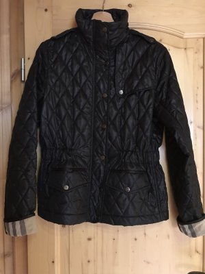Burberry Quilted Jacket dark blue polyester