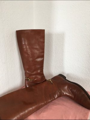 Italia Moda Western Boots cognac-coloured leather