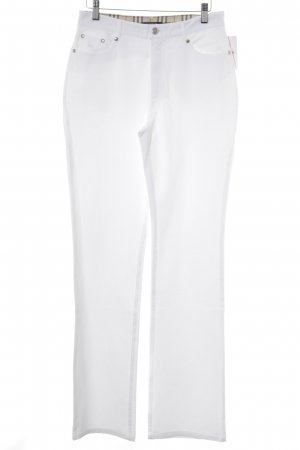 Burberry Straight Leg Jeans white casual look