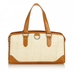 Burberry Straw Handbag