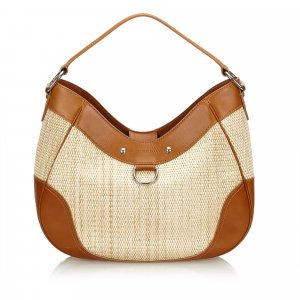 Burberry Straw Shoulder Bag