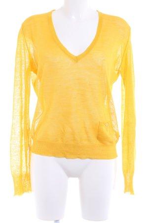 Burberry Gebreide trui geel casual uitstraling