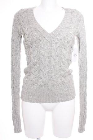 Burberry Pull tricoté gris moucheté style universitaire