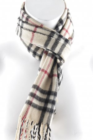Burberry Knitted Scarf check pattern casual look