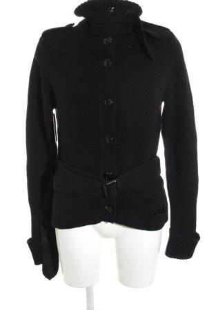 Burberry Gilet tricoté noir motif tricoté lâche style décontracté