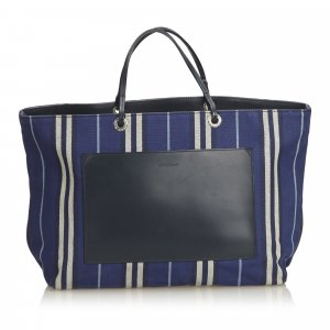 Burberry Striped Jacquard Tote