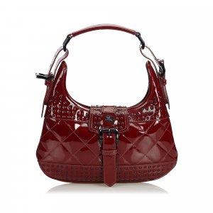 Burberry Studded Patent Leather Handbag