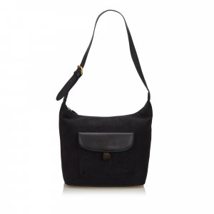 Burberry Shoulder Bag black suede
